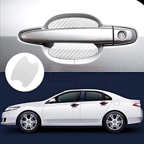 Adesivi Soglia Auto,Pellicola Adesiva Per Auto Sottoporta in Fibra Carbonio,Pellicola Adesiva Carbonio Antiscivolo,Protezione Per Battitacco Della Portiera in Fibra Di Carbonio