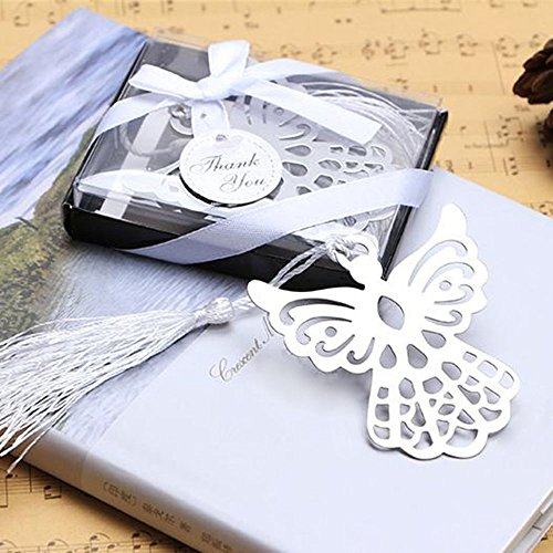 - Winrase Gift Boxed Book Lovers Collection Angel Bookmark Wedding Favor (Set of 12)