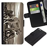 zte max for family mobile - [Lion Family by the lake] For ZTE Zmax Pro, Flip Leather Wallet Holsters Pouch Skin Case