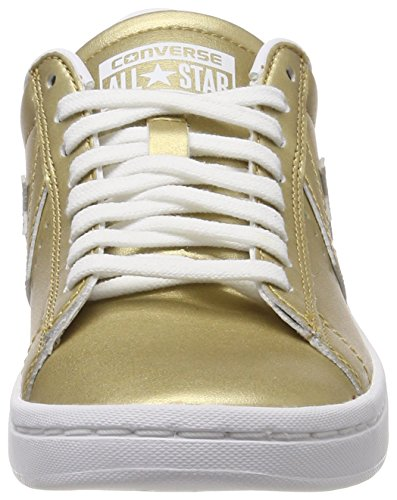 Gold Gold gold Leather Baskets Converse Pro xqZawp8wU