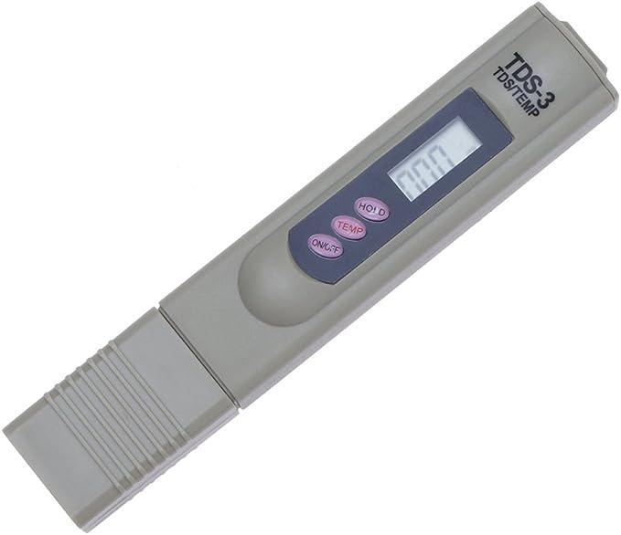 BESTGIFT Medidor de Agua Digital LCD Calidad Prueba de Agua Tapa ...