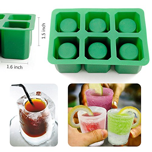Green Kitchen Jeddah: IC ICLOVER Food Grade Silicone ICE Shot Glass Ice Cube