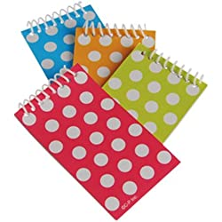 2 Dozen (24) Colorful POLKA DOT Mini Spiral NOTEBOOKS Party FAVORS Classroom TEACHER Rewards