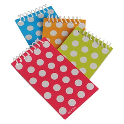 2 Dozen (24) Colorful POLKA DOT Mini Spiral NOTEBOOKS Party FAVORS Classroom TEACHER Rewards -