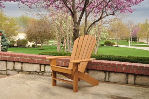 Adirondack Chair, Seaside Model, Cedar Color Finish 100% recycled plastic, stainless steel hardware, 53#