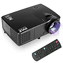 Pyle Full HD 1080p Cinema Home Theater Projector Ceiling Mountable, Photo Video Digital Multimedia System & Keystone Adjustment for TV, Laptop & Business Office Powerpoint Presentation-(PRJLEDLP205)