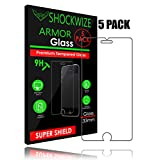 iPhone 6S / 6 Screen Protector, ShockWize [5 Pack] iPhone 6s / 6 Tempered Glass Screen Protector for Apple iPhone 6s / 6 [3D Touch Compatible] (5 Pack)