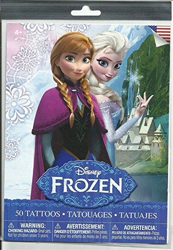 Disney Frozen Elsa, Anna and Olaf 50 Count Tattoos