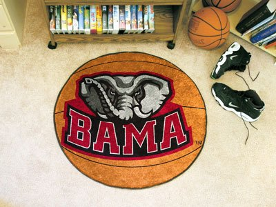 Fanmats Alabama Crimson Tide Basketball-Shaped Mat