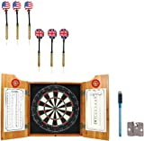 Fire Fighter Wood Dart Cabinet Set