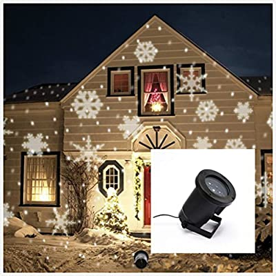 SummitLink® White Snow Shower Laser Christmas Light Show LED Projector
