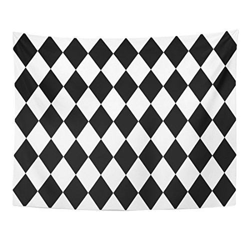 Breezat Tapestry Baby Black and White Pattern Chevron Home Decor Wall Hanging for Living Room Bedroom Dorm 60x80 (2 Pierrots Halloween)