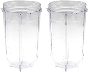Anbige Replacement Parts 16 Ounce Tall Cup Fits Original Magic Bullet Blender Juicer 250W MB1001 (2 16OZ Tall Cups)