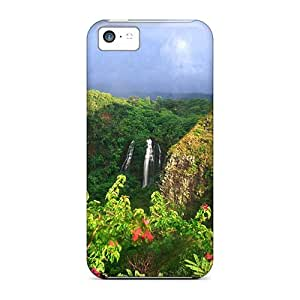 DgQsYBF2621KloHt Cynthaskey Rainbow In Opaekaa Falls Hawaii Feeling Iphone 5c On Your Style Birthday Gift Cover Case