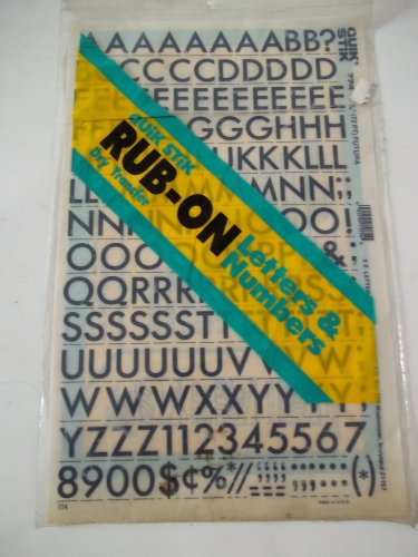 Quik Stik, 774, Rub-On, Dry Transfer, Letters & Numbers, 1/4