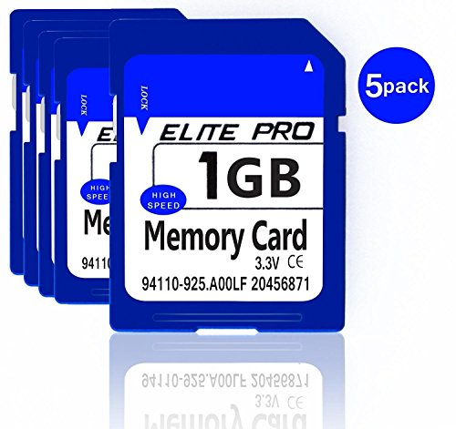 SMO 5pcs x1GB Security High Speed Digital SD Card Memory Card Compatible with Cameras Camcorders Computers Car Readers and Other SD Compatible Devices