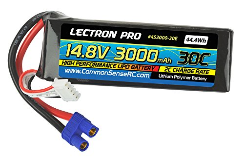 Lectron Pro 14.8V 3000mAh 30C with EC3 Connector for High-Performance Edf Jets & Quadcopters Lipo Battery by Lectron Pro