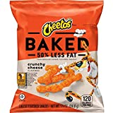 cheese cheetos - Cheetos Oven Baked Crunchy Cheese Flavored Snacks, 0.875 Ounce (Pack of 104)