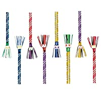 Fun Rainbow Birthday Party Fringed Blowouts , Pack of 8, Multi , 17 1/2""