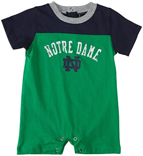 Ncaa Baby Creepers Shop - Adidas Infant Football Romper - Notre Dame - 18M