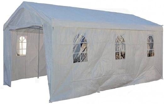 Cenador coche Box Garaje 300 x 600 Metal Exterior Cubierta Jardín ablashi: Amazon.es: Jardín