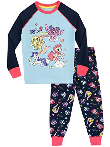 My Little Pony Girls' Twilight Sparkle Pinkie Pie Pajamas Size 5 (Multi Colored Pony)