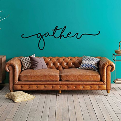 Living Room Decor - Gather Sign - Home Wall Decoration - Vin