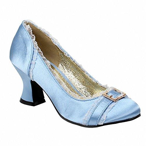 Ellie 254-edith Femmes Sexy Confortable 2.5 Talon Satin Chaussure Bleu