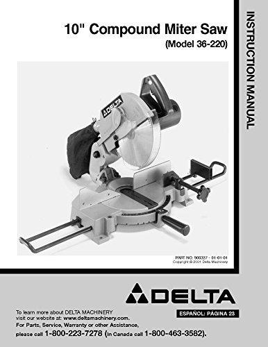 pound Miter Saw Instruction Manual [Plastic Comb] [Jan 01... ()