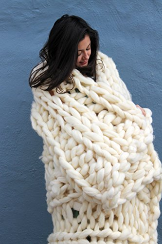 Chunky Knit Wool Throw - 30