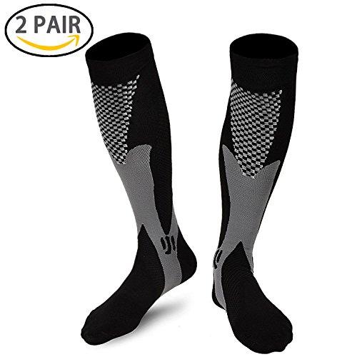 Zcen Compression Socks for Men & Women (2 Pair), Compression Stockings – DiZiSports Store
