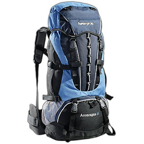 AspenSport Rucksack Aconcagua, blau/schwarz, 75 x 35 x 30 cm, 65 Liter, AB06L03