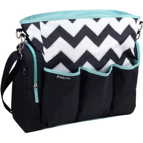 Boy Girl Black Chevron iPack Diaper Bag by iPack by ipack