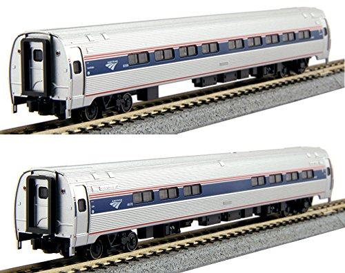 Amfleet Passenger Set - Kato USA Model Train Products N Scale Amfleet I Phase VI 2-Car B Set