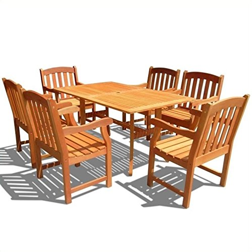 7 Piece Shorea Wood - 2