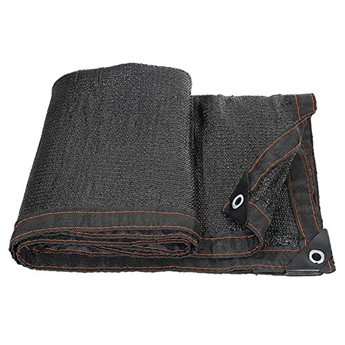 LIXIONG Shade Cloth Shading Net Outdoor Plant Insulation Net Encryption Sun Net Sunscreen Carport Patio 26 Sizes, Customizable (Color : Black, Size : 2x2m) ()
