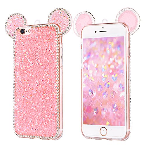 sports shoes f8365 d31f9 iPhone 6s Plus Case, iPhone 6 Plus Phone Case, YOEDGE Luxury Bling Bling  Glitter Diamond Soft Silicone Case with 3d Sparkle Shiny Rhinestone  Diamante ...