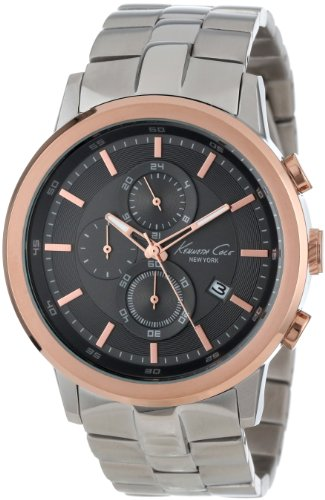 (Kenneth Cole New York Men's Quartz Stainless Steel Case Stainless Steel Bracelet Silver, (Model:KC92580))