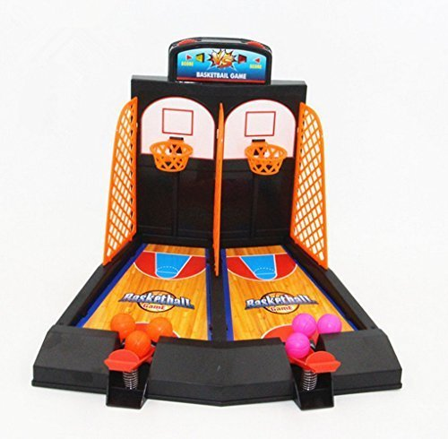 Avtion One or Two Player Desktop Basketball Game Best Classic Arcade Games Basket Ball Shootout Table Top Shooting Fun Activity Toy For Kids Adults Sports Fans - Helps Reduce Stress -