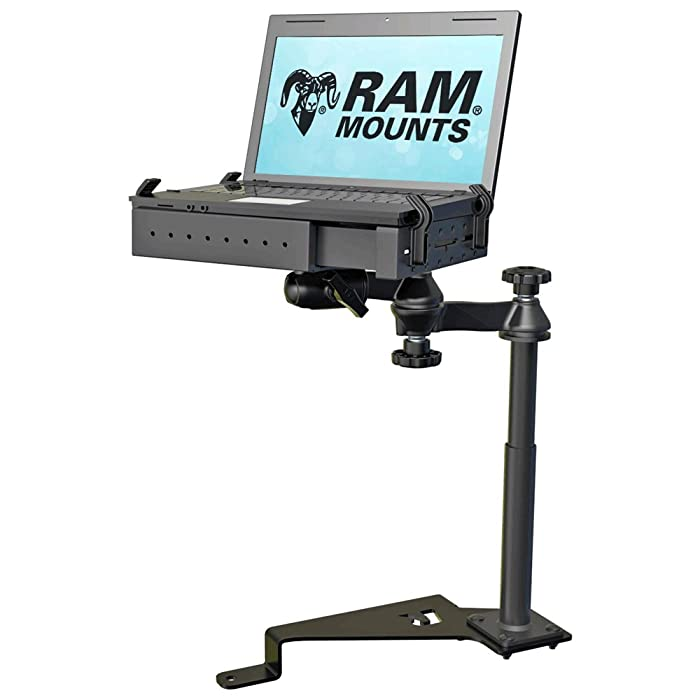 RAM No-Drill Laptop Mount for ('15-'18) Ford F-150 and ('17-'18) F-250-550