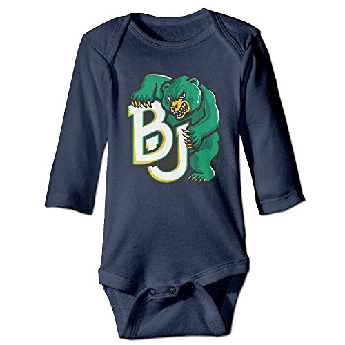 NINJOE NewBorn Boy's & Girl's BJ Bears Long Sleeve Bodysuit Outfits Navy 24 Months
