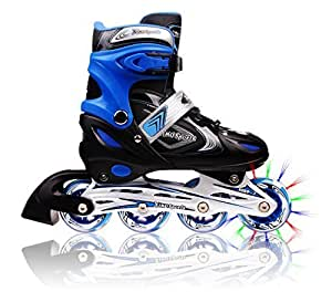 Amazon.com : Adjustable Inline Skates for Kids, Featuring ...