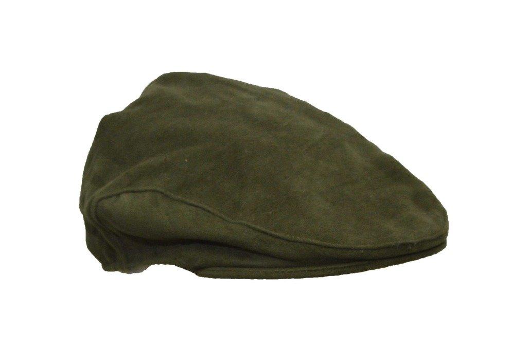 Walker and Hawkes Men's Moleskin Flat Cap Country Waterproof Hat L (59CM) Olive