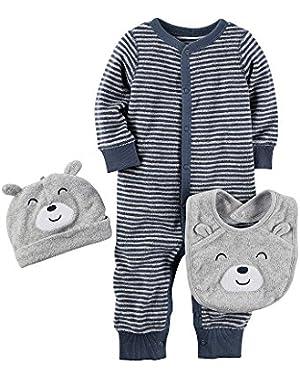 Carter's Baby Boys' 3-Piece Bodysuit And Bib Set