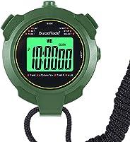 Digital Silent Stopwatch, BizoeRade Sport Stopwatch Timer with Backlight, 1 Lap Memory, Countdown, Alarm Clock