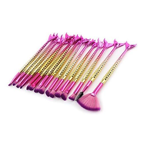 New-look 15 mermaid makeup brush set eye shadow brush lip brush blush brush shadow brush