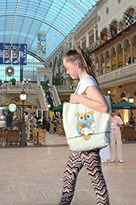 Cute Owl Tote - Designer, Reusable Grocery Shopping Bag - Machine Washable & On Trend. 100% Cotton Eco Bag.