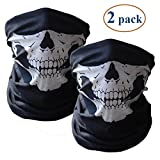 Skull Mask Bandana Headwear Scary Dust-Proof Windproof, Pack of 1