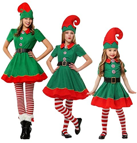 Zollzirr Festival Adult and Children Holiday Elf Costume Santa Claus Christmas Suit