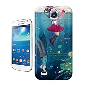 Unique Phone Case Watercolor girl#2 Hard Cover for samsung galaxy s4 cases-buythecase